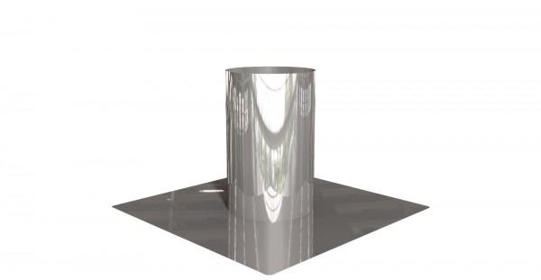 Dachdurchführung flach Edelstahl, zylindrisch