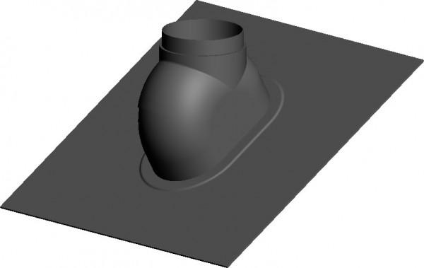 Schrägdachpfanne 0° bis 48° schwarz - Wakaflex - 560 x 715 mm