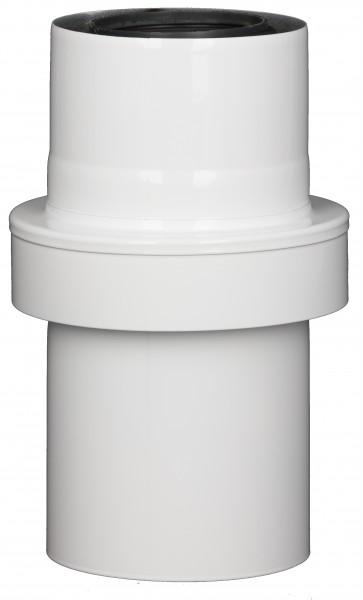 Abgasrohr gerade mit Zuluftansaugung - LAS doppelwandig aus PP/Edelstahl weiß