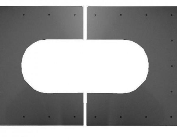 Abdeckblende für innen und außen - geteilt - bis 45° Neigung