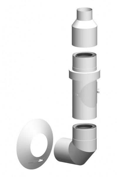 Basis-Set Außenwand - LAS doppelwandig aus PP/Edelstahl weiß