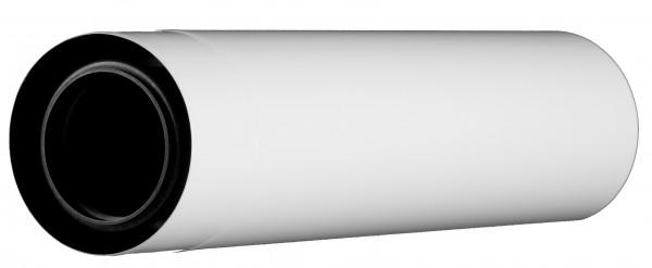 440 mm Abgasrohr gerade - kürzbar - LAS doppelwandig aus PP/Edelstahl weiß