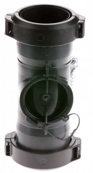 Abgasrohr mit Revision für Rohr flexibel - einwandig aus PP