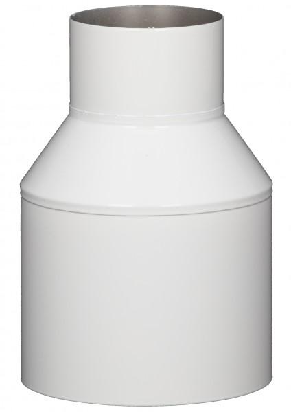 Mündungsabschluss - LAS doppelwandig aus Edelstahl weiß