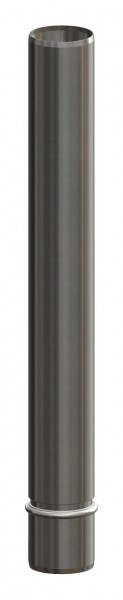 Endrohr aus Edelstahl 450 mm, passend für Mündungsset aus Edelstahl