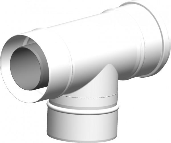 T-Stück geeignet für Abgaskaskaden - LAS doppelwandig aus PP/Stahl