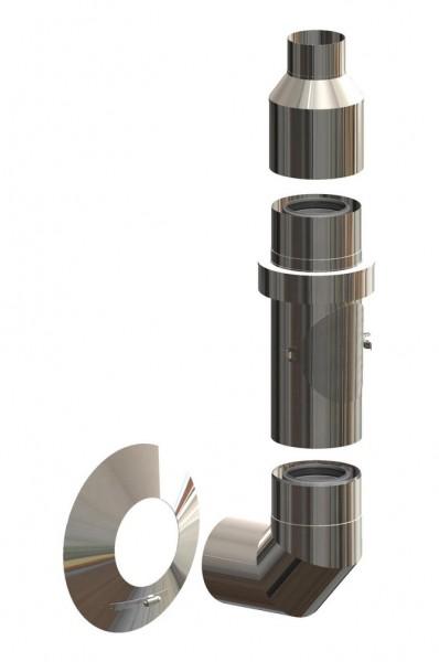 Basis-Set Außenwand - LAS doppelwandig aus PP/Edelstahl blank