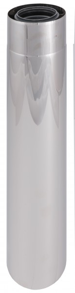 440 mm Abgasrohr gerade - kürzbar - LAS doppelwandig aus PP/Edelstahl blank