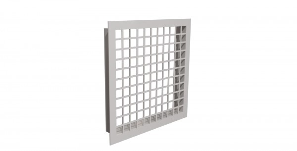 Schachteintrittsgitter 150x150mm, weiß beschichtet