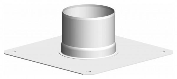 Verankerungsplatte - aus Edelstahl weiß