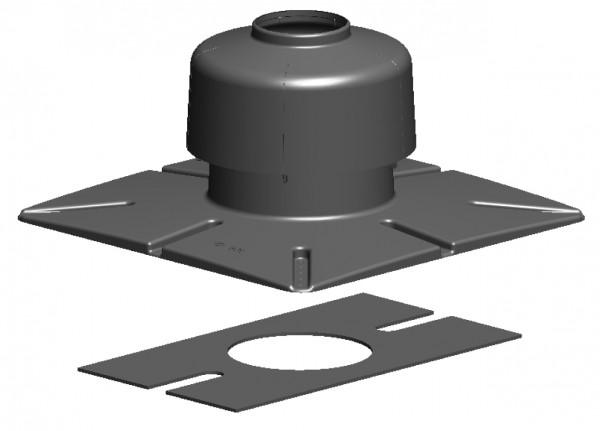Mündungsset aus PP für doppelwandige Rohre aus PP/PP oder PP/Stahl