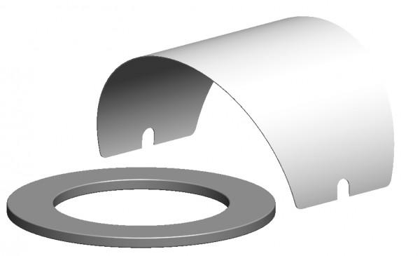 Zuluftansaugset für Revisions- / Kontrollbauteile - LAS doppelwandig aus PP/Stahl