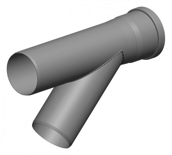 Abzweig 42° - einwandig aus PP - geeignet für Abgaskaskaden