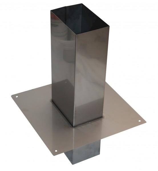 Schornsteinaufsatz rechteckig aus Edelstahl - Schornsteinverlängerung