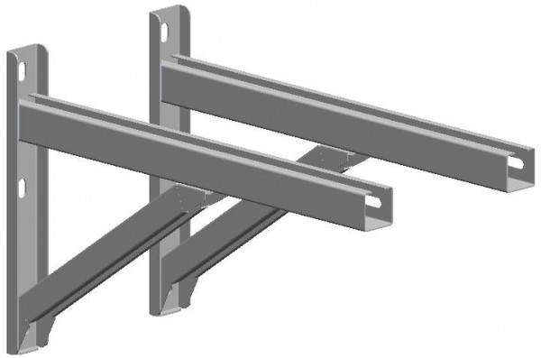 Querträger 750 mm - kürzbar - aus Edelstahl blank
