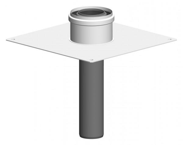 Kaminabschluss für Unterdach für doppelwandige Rohre aus PP/PP oder PP/Stahl