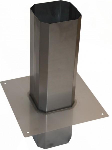 Schornsteinaufsatz quadratisch für Plewa aus Edelstahl - Schornsteinverlängerung