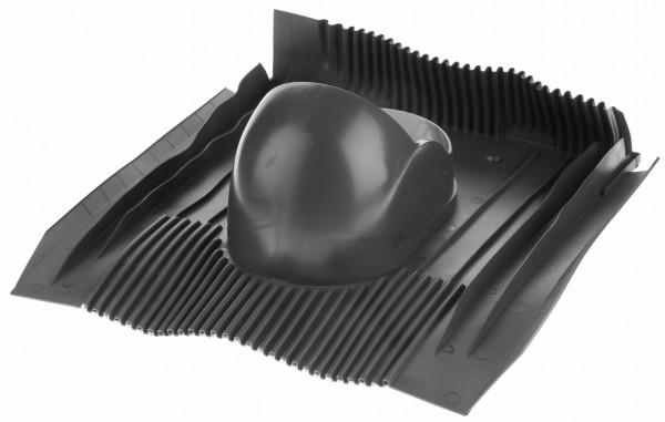 Schrägdachpfanne 25°–50° schwarz - Universal - 360 x 395 mm