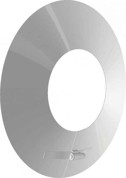 Wandrosette - aus Edelstahl weiß