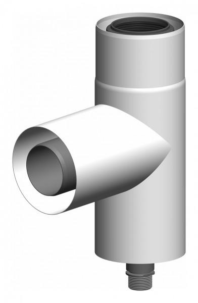 87° Stützbogen - LAS doppelwandig aus PP/Edelstahl weiß