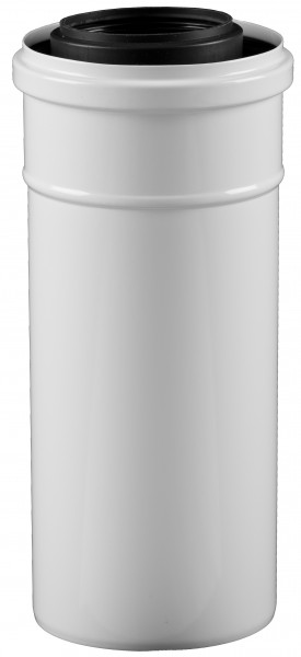 1.955 mm Abgasrohr gerade - kürzbar - LAS doppelwandig aus PP/Stahl