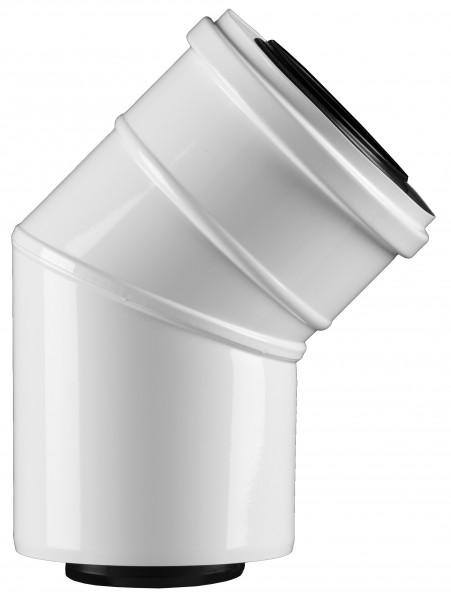 45° Abgasbogen - LAS doppelwandig aus PP/Stahl