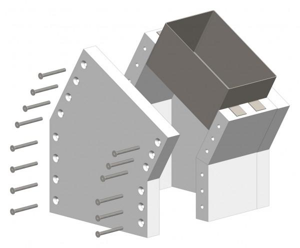 30°-Schachtwinkel F30, einseitig offen, inkl. Steckverbinder