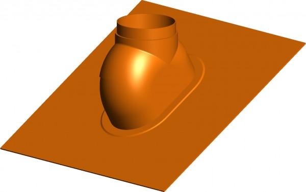 Schrägdachpfanne 0° bis 48° ziegelrot - Wakaflex - 560 x 715 mm