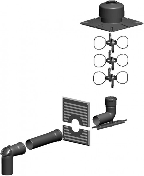 Schacht-Set inkl. Verbindungsleitung - einwandig aus PP