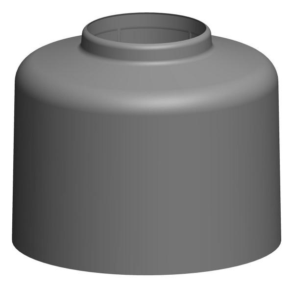 Haubentop für Dachhochführung - schwarz