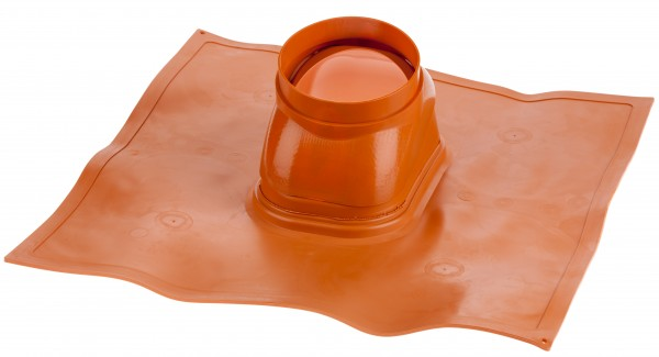Schrägdachpfanne 25° bis 45° ziegelrot - Kunststoff/Blei
