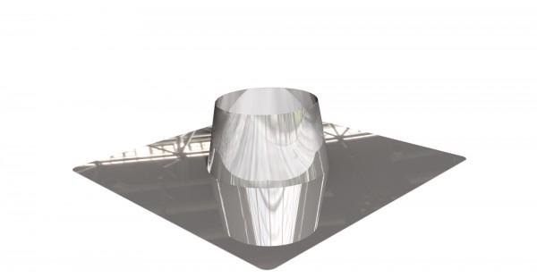 Dachdurchführung flach Edelstahl