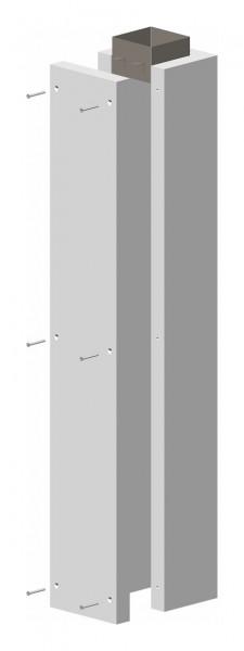 F90 Schachtelement 1.195 mm, einseitig offen, inkl. Steckverbinder