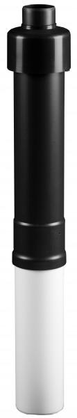Dachhochführung schwarz 1.100 mm - LAS doppelwandig aus PP/Stahl